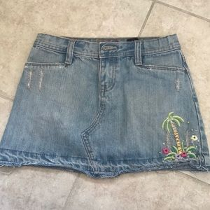Gap denim mini skirt girls 10